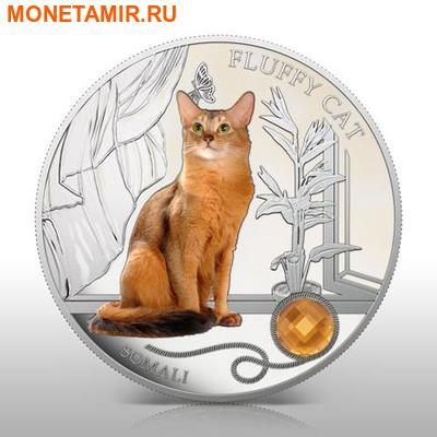 Фиджи 2 доллара 2013.Сомали - Пушистая кошка серия Собаки и кошки.Арт.000358046391/60