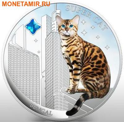 Фиджи 2 доллара 2013.Бенгал - Супер кошка серия Собаки и кошки.Арт.000358046397/60