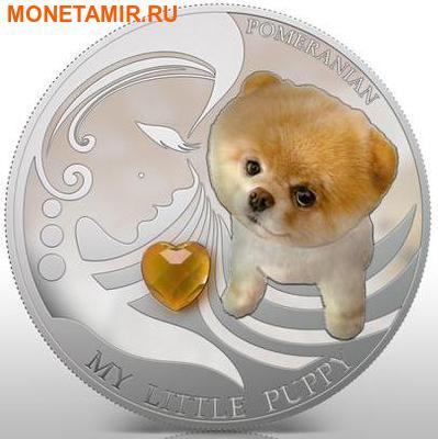 Фиджи 2 доллара 2013.Померанский шпиц - Мой маленький щенок серия Собаки и кошки.Арт.000358046382/60