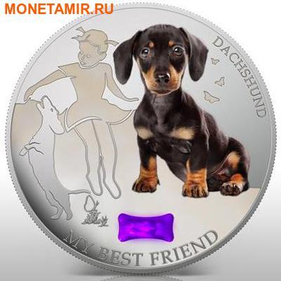 Фиджи 2 доллара 2013.Такса - Мой лучший друг серия Собаки и кошки.Арт.000358046385/60 (фото)