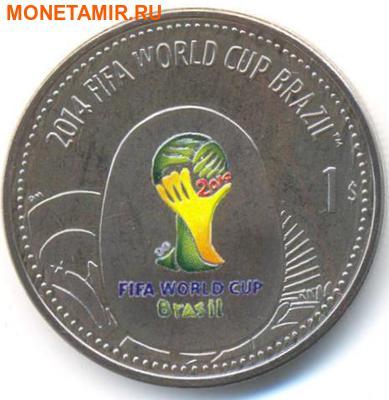 Британские Виргинские Острова 1 доллар 2012. «Футбол. Чемпионат Мира – Бразилия 2014».Арт.000044747261 (фото)