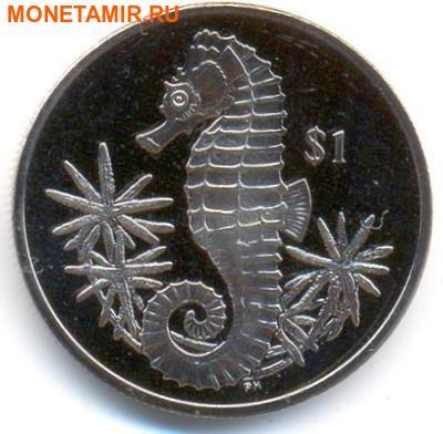 Британские Виргинские Острова 1 доллар 2014. «Морской конек».Арт.000032047231 (фото)