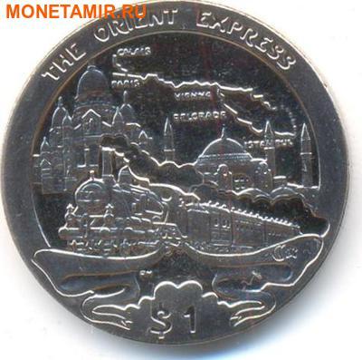 Британские Виргинские Острова 1 доллар 2013. «Поезд - Восточный Экспресс».Арт.000032047206 (фото)