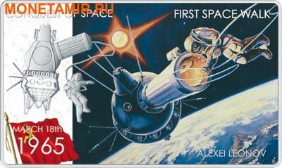 Ниуэ 2 доллара 2011.Алексей Леонов – Покорение Космоса.Арт.000281346436/60 (фото)