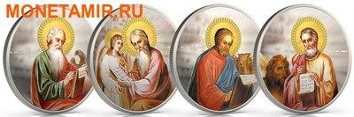 Ниуэ набор из 4 монет 2 доллара 2011. «Евангелисты - Матвей, Марк, Лука, Иоанн» серия «Православные Святыни» Арт.001329846406 (фото)