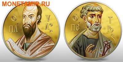 Ниуэ 2 доллара набор из 2 монет 2010. «Святые Апостолы Петр и Павел» серия «Православные Святыни».Арт.000664946404 (фото)