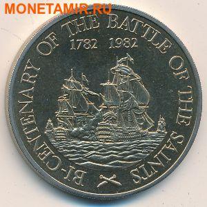 Сент-Китс и Невис 20 долларов 1982.Корабли «200-летие сражения у островов Всех Святых».