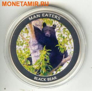 Уганда 100 шиллингов 2010. «Черный медведь» серия «Животные людоеды».Арт.000043047299 (фото)