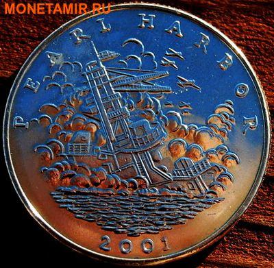 Либерия 5 долларов 2001. «Корабль – Перлхарбор, Вторая мировая война».Арт.000035547497