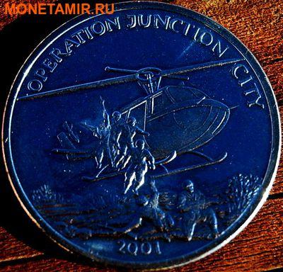 Либерия 5 долларов 2001. «Вертолет – Операция «Джанкшен Сити», Вьетнам».Арт.000035547503 (фото)