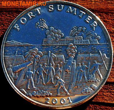 Либерия 5 долларов 2001. «Сражение за форт Самтер, Гражданска война».Арт.000035547506 (фото)