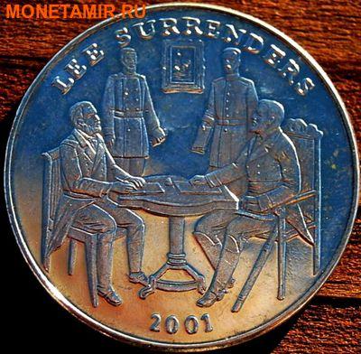 Либерия 5 долларов 2001. «Капитуляция Роберта Ли»Арт.000035547505 (фото)