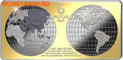Соломоновы острова 10 долларов 2013.Шесть драгоценных металлов.Арт.000905046138/60