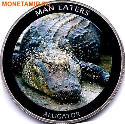 Уганда 100 шиллингов 2010. «Аллигатор» серия «Животные людоеды».Арт.000042447486 (фото)