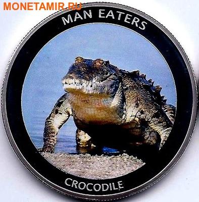 Уганда 100 шиллингов 2010. «Крокодил» серия «Животные людоеды».Арт.000041247487 (фото)
