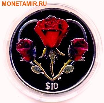 Британские Виргинские острова 10 долларов 2014. «Сердце из Роз».Эксклюзив (фото)