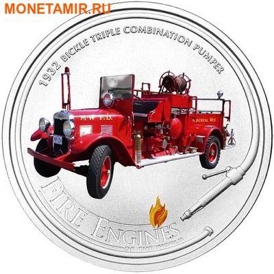 Острова кука 1 доллар 2005. «BICKLE 1932» - «Пожарные машины мира».Арт.000200046725 (фото)
