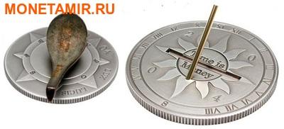 Набор из двух монет Конго Дем. Респ. 10 франков 2004. Либерия 10 долларов 2004. Время деньги – компас и солнечные часы.Арт.000231610274