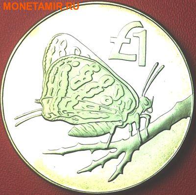 Кипр 1 фунт 2002. «Бабочка на ветке».Арт.000089547712 (фото)