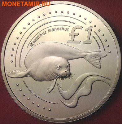 Кипр 1 фунт 2002. «Тюлень монах».Арт.000074647714 (фото)