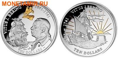 Британские Виргинские острова набор 2x10 долларов 2011. Корабль. Витус Беринг.Арт.000422145018 (фото)