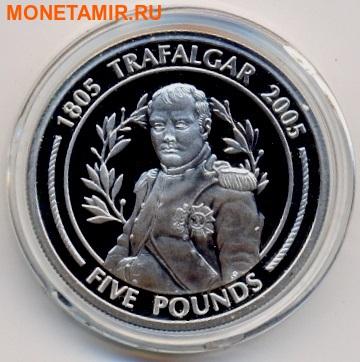 Гибралтар 5 фунтов 2005. Наполеон. 200 лет Трафальгарскому сражению.Арт.000110447676 (фото)