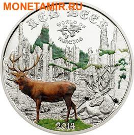 Острова Кука 2 доллара 2014. Благородный олень серия «Мир охоты».Арт. 000105647707 (фото)