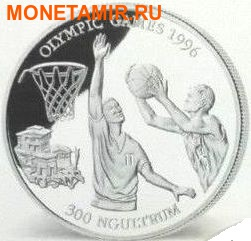 Бутан 300 нгултрум 1994. Баскетбол – Олимпийские игры 1996 в Атланте.Арт.000100847791 (фото)