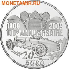 Франция 20 евро 2009. Автомобили – Этторе Бугатти. (фото)