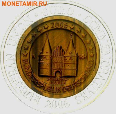 Корея 700 вон 2006. Памятные монеты Евросоюза – Германия Шлезвиг-Гольштейн(ворота Хольстентор в городе Любек).Арт.000370547820