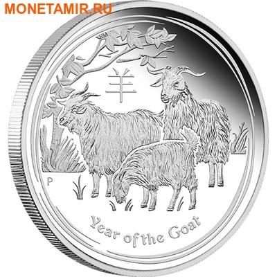 Австралия 1 доллар 2015. Лунный календарь – Год Козы. (фото)