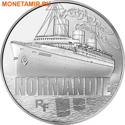 Франция 50 евро 2014. Корабль «Нормандия» - серия Великие корабли Франции.Арт.000100048552 (фото)