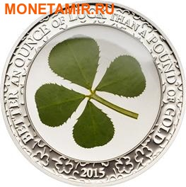 Палау 5 долларов 2015 Клевер – Унция удачи (Palau 5$ 2015 Ounce of Luck 4-leaf clover).Арт.000256848898/60 (фото)