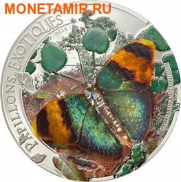 Центрально-Африканская Республика 1000 франков 2014.Бабочка 3D – «Золотистый лесничий».Арт.000236848398 (фото)
