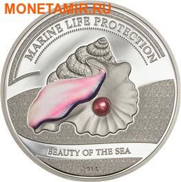 Палау 5 долларов 2014.Жемчужина - Красота моря серия защита морской жизни.Арт.000236848620/60