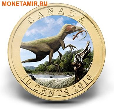 Канада 50 центов 2010.Динозавры - Синозавроптерикс (Sinosauropteryx). (фото)