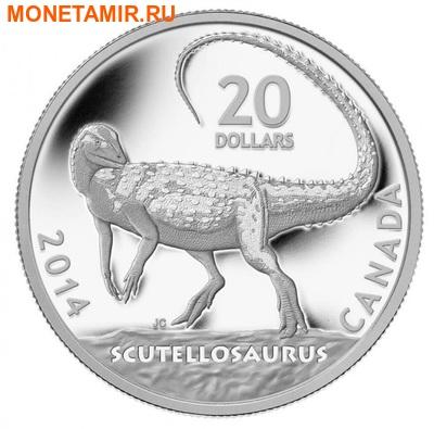Канада 20 долларов 2014.Динозавр – Скутеллозавр серия Канадские динозавры.Арт.000260445725 (фото)
