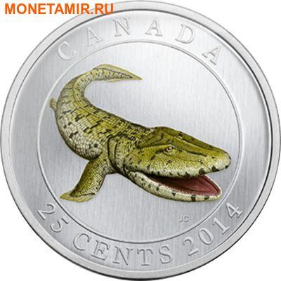 Канада 25 центов 2014.Динозавр – Тиктаалик серия Доисторические животные.Арт.000092348235 (фото)