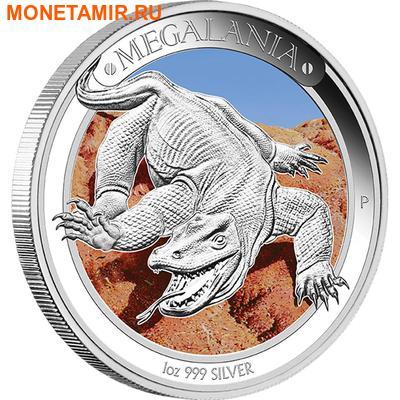 Австралия 1 доллар 2014.Ящерица - Мегалания серия «Мегафауна».Арт.000257948155