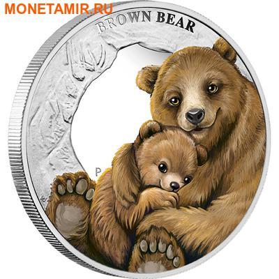 Тувалу 50 центов 2014.Бурый медведь серия Материнская любовь.Арт.000171448658/60 (фото)