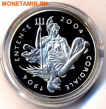 Великобритания 5 фунтов 2004 года.100 лет создания Антанты.Арт.000350049153 (фото)