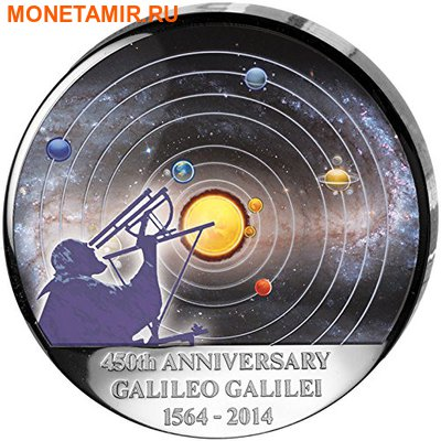 Конго Демократическая Республика 30 франков 2014.Космос - Галилео Галилей – 450 лет со дня рождения.Арт.000275347905 (фото)