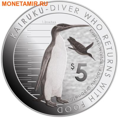 Новая Зеландия 5 долларов 2014.Пингвин Кайруку.Арт.000332348589 (фото)