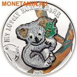 """""""Мишка"""" """"Вязанный - Коала"""". Палау 5 долларов 2013.Арт.000218245198"""