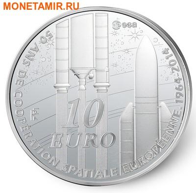 Франция 10 евро 2014.50 лет Европейского Космического Агентства (космос).Арт.000178848514 (фото)