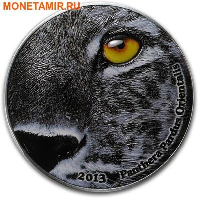 Конго (Народная Республика) 2000 франков 2013. «Амурский леопард»(Panthera pardus orientalis) серия «Глаза природы». (фото)