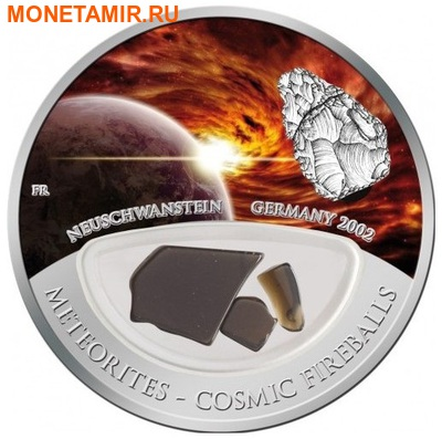 Фиджи 10 долларов 2012.Метеорит – Нойшванштайн (NEUSCHWANSTEIN) серия Космические шаровые молнии.Арт.000376941594 (фото)