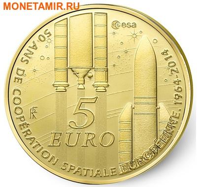 Франция 5 евро 2014.50 лет Европейского Космического Агентства (космос).Арт.000227348522 (фото)