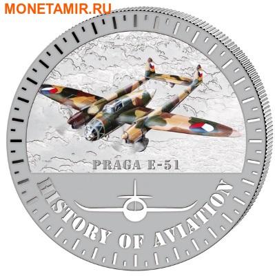 Бурунди 5000 франков 2015. Самолет - «Прага Е-51» серия «История авиации». (фото)