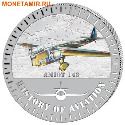 Бурунди 5000 франков 2015. Самолет - «Амио 143» серия «История авиации». (фото)